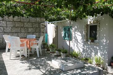 Lumbarda, Korčula, Objekt 4472 - Ubytovanie s kamienkovou plážou.