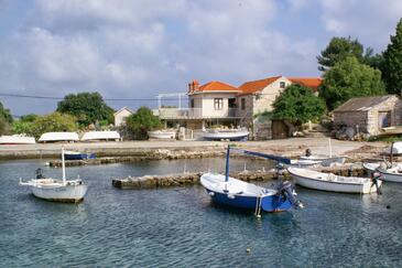 Prižba, Korčula, Obiekt 4479 - Apartamenty przy morzu ze żwirową plażą.