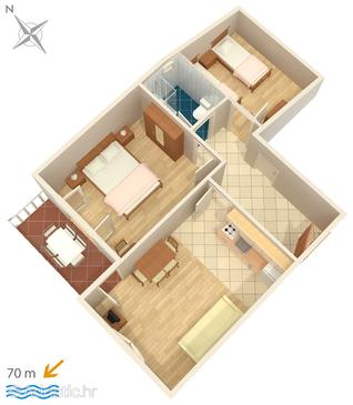 Soline, Plan in the apartment, WiFi.