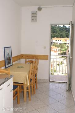 Gršćica, Salle à manger dans l'hébergement en type apartment, animaux acceptés et WiFi.