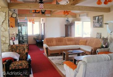 Orebić, Living room in the apartment.