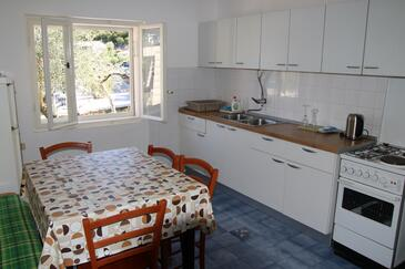 Velika Prapratna, Dining room 1 in the apartment, (pet friendly) and WiFi.