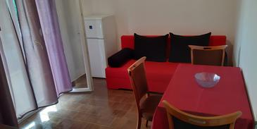 Orebić, Living room in the apartment, dopusteni kucni ljubimci.