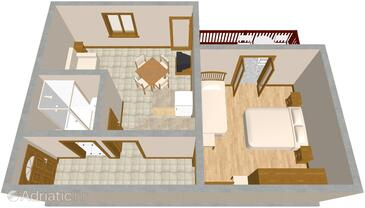 Sali, Plan in the apartment, (pet friendly).