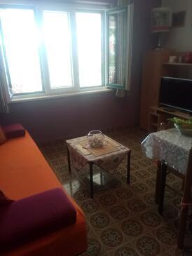 Kučište - Perna, Obývacia izba v ubytovacej jednotke apartment, WIFI.