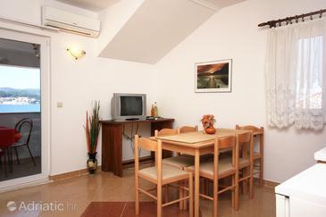 Kučište - Perna, Столовая в размещении типа apartment, доступный кондиционер и WiFi.