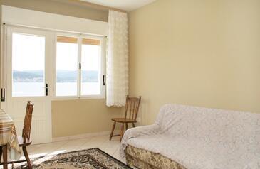 Kučište - Perna, Pokój dzienny w zakwaterowaniu typu apartment, dopusteni kucni ljubimci.