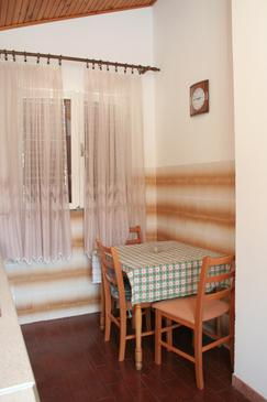 Orebić, Dining room in the apartment, dopusteni kucni ljubimci i WIFI.
