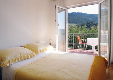 Trstenik, Sypialnia w zakwaterowaniu typu room, dostupna klima i WIFI.