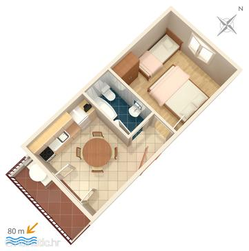Ivan Dolac, Plan in the apartment, (pet friendly) and WiFi.