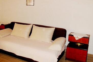 Jelsa, Living room in the apartment, dostupna klima i WIFI.