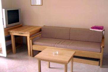 Basina, Living room in the apartment, (pet friendly).