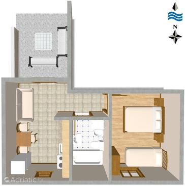 Slatine, Proiect în unitate de cazare tip apartment, WiFi.