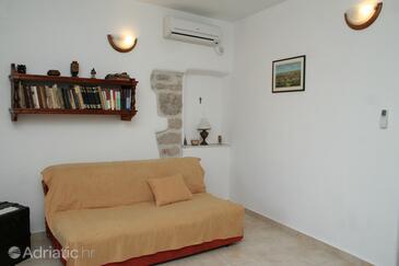 Vrboska, Living room in the apartment, dostupna klima, dopusteni kucni ljubimci i WIFI.