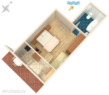 Jelsa, Plan in the apartment, (pet friendly) and WiFi.