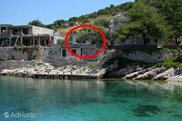 Zaraće (Gdinj), Hvar, Objekt 4603 - Ubytování v blízkosti moře s oblázkovou pláží.