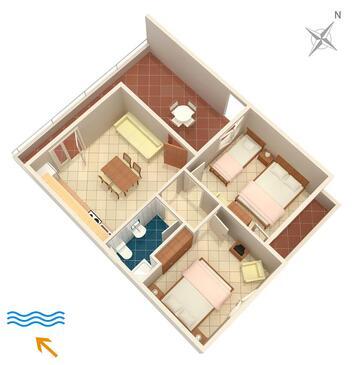Pokrivenik, Plan kwatery w zakwaterowaniu typu apartment, WiFi.