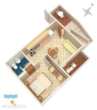 Pokrivenik, Plan in the apartment, WiFi.