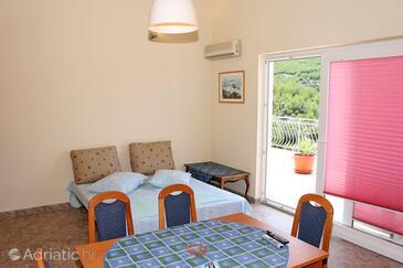 Jagodna (Brusje), Living room in the apartment, dostupna klima i WIFI.