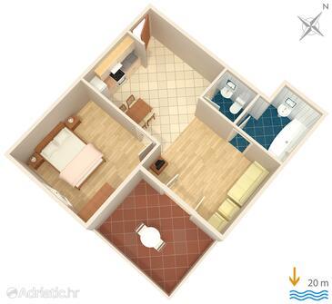 Jelsa, Plan in the apartment, WIFI.