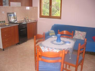 Sveta Nedilja, Dining room in the apartment, air condition available, (pet friendly) and WiFi.