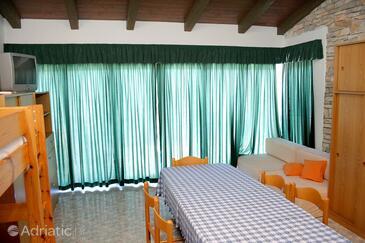 Jagodna (Brusje), Living room in the apartment, WIFI.