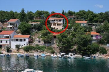 Basina, Hvar, Obiekt 4620 - Apartamenty przy morzu ze żwirową plażą.