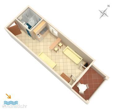 Basina, План в размещении типа studio-apartment, WiFi.