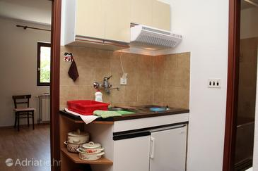 Vrboska, Kitchen in the apartment, dopusteni kucni ljubimci i WIFI.