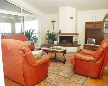 Hvar, Pokój dzienny w zakwaterowaniu typu apartment, dostupna klima i WIFI.
