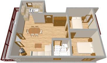 Srima - Vodice, Plan in the apartment.