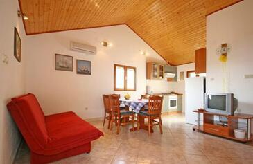 Bol, Obývací pokoj v ubytování typu house, domácí mazlíčci povoleni.