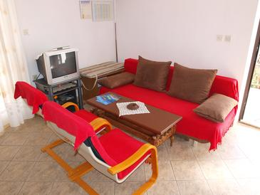 Bušinci, Living room in the apartment, air condition available and WiFi.