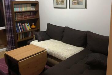 Bušinci, Camera di soggiorno nell'alloggi del tipo apartment, animali domestici ammessi e WiFi.