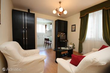 Dubrovnik, Living room in the apartment, air condition available and WiFi.