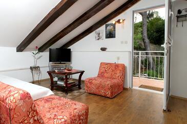Dubrovnik, Obývací pokoj v ubytování typu apartment, WiFi.