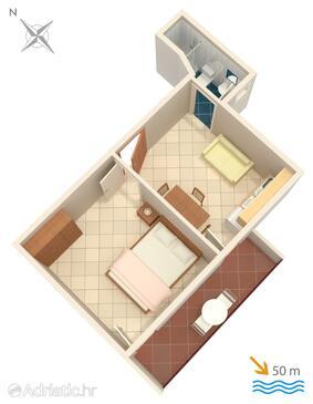 Grebaštica, План в размещении типа apartment, WiFi.