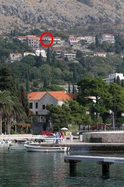 Mlini, Dubrovnik, Obiekt 4714 - Willa ze żwirową plażą.
