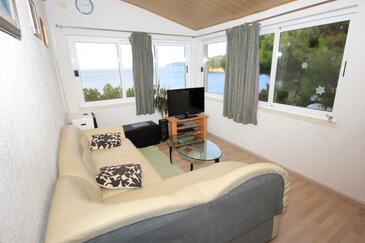 Štikovica, Living room in the apartment, dostupna klima, dopusteni kucni ljubimci i WIFI.
