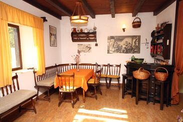 Brsečine, Dining room in the house.