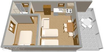 Solaris, Plan in the apartment.