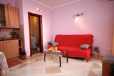 Soline, Living room in the apartment, dopusteni kucni ljubimci i WIFI.