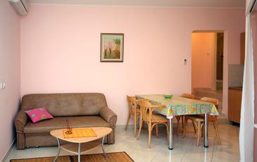 Cavtat, Pokój dzienny w zakwaterowaniu typu studio-apartment, dopusteni kucni ljubimci i WIFI.