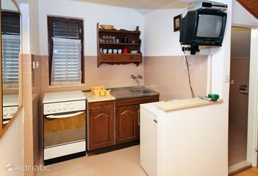 Cavtat, Kitchen in the studio-apartment, dopusteni kucni ljubimci i WIFI.