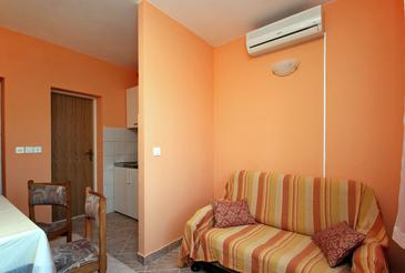 Zaton Veliki, Living room in the apartment.