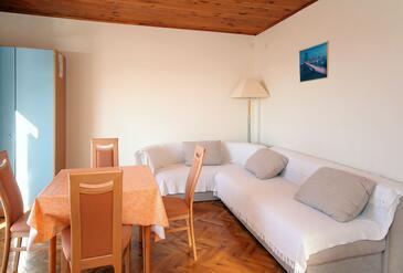 Soline, Obývací pokoj v ubytování typu apartment, WiFi.
