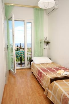 Cavtat, Sypialnia w zakwaterowaniu typu room, air condition available i WiFi.
