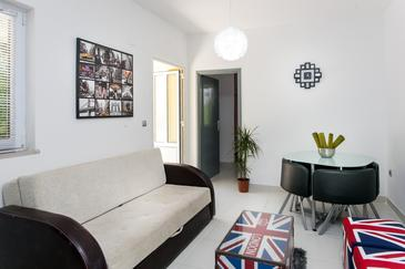 Cavtat, Pokój dzienny w zakwaterowaniu typu apartment.