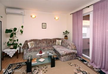 Srebreno, Living room in the apartment.