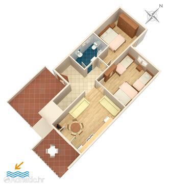 Podstrana, Plano in the apartment, (pet friendly) y WiFi.